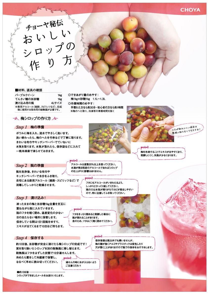 梅シロップレシピ